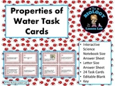 Water: Properties of Water Task Cards