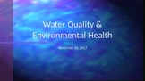 Water Quality & Health