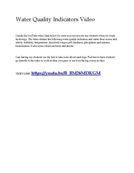 Water Quality Indicators Video