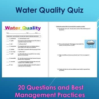 Water Quality Quiz