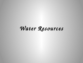 Water Resources PowerPoint