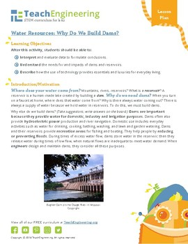 Water Resources: Why Do We Build Dams?