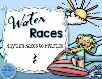 Water Rhythm Races Game {Quarter Rest}