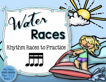 Water Rhythm Races Game {Sixteenth Notes}