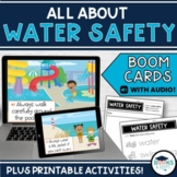Water Safety BOOM CARDS - Digital Interactive Task Cards