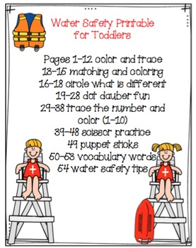 Water Safety Printable for Toddlers