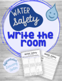 Water Safety Write the Room Differentiated Science Writing Center