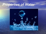Water, Surface Tension, Capillary Action, Solutions & other Properties of Water