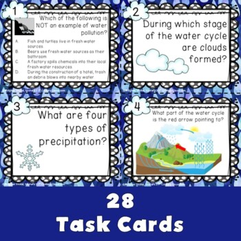 Water Task Cards