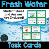 Water Task Cards - Includes Water Cycle, Watersheds, and Water Conservation
