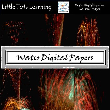 Water Texture Digital Papers - Commercial Use - Pack 3