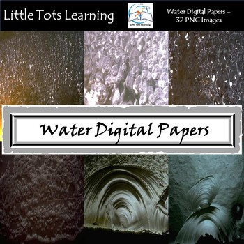 Water Texture Digital Papers - Commercial Use - Pack 6