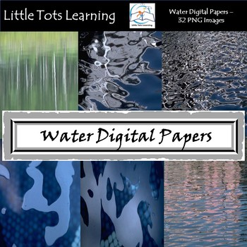 Water Texture Digital Papers - Commercial Use - Pack 8