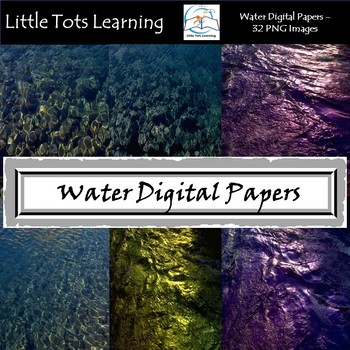 Water Texture Digital Papers - Commercial Use - Pack 9