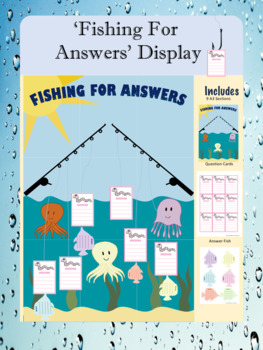 Question and Answer Display - Water Theme 'Fishing for Answers'