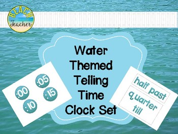 Water Themed Telling Time Clock Labels