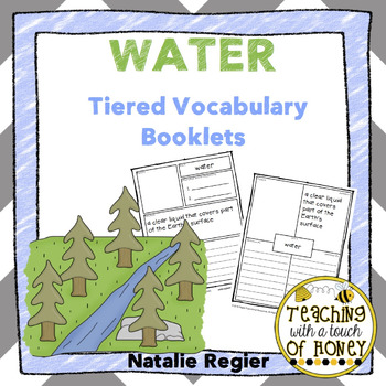 Water Tiered Vocabualry Booklets