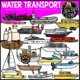 Water Transport Clip Art Set