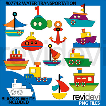 Water Transportation Clip Art