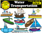 Water Transportation Clip Art Personal & Commercial Use 18 images Clip Arts