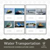 Water Transportation Montessori Nomenclature Cards