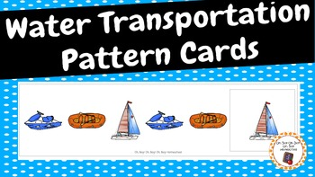 Patterns: Water Transportation Pattern Cards