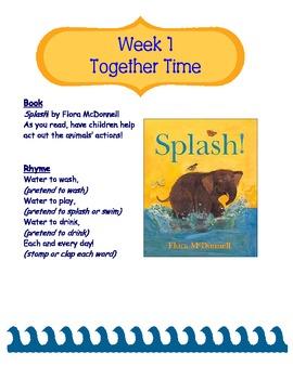 Water Unit- Preschool Homeschool Co-op Ages 1 -5