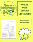 Water Unit Review Crossword
