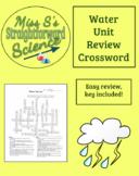 Water Unit Review Crossword