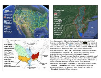 Water: United States Watersheds and Rivers (A Colorful FUSION!)