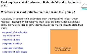 Water Use and Food Choices