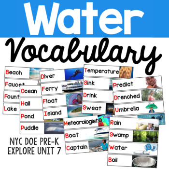 Water Vocabulary Cards