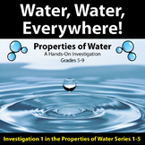 Water, Water, Everywhere! - Properties of Water Investigation #1