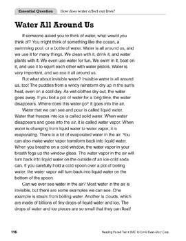 Water, Weather, and Winter (Reading Paired Text)