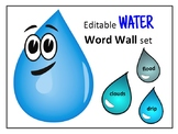 Water Word Wall Editable Vocabulary Cards