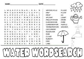 Water Wordsearch