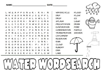 Water Wordsearch