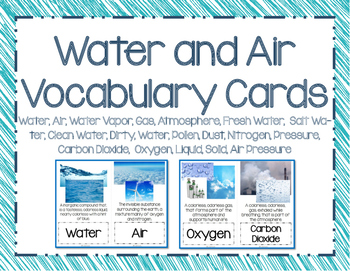 Water and Air Vocab Picture Cards