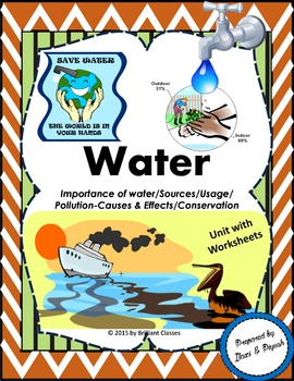 Water : Importance of water/Sources/Usage/Pollution-Causes&Effects/Conservation