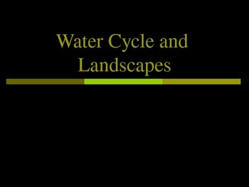 Water and Landscape Unit notes on ppt
