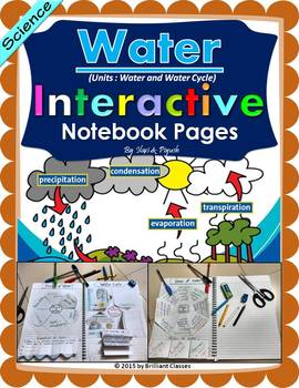 Water and Water Cycle Interactive Notebook Pages