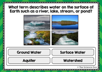 Water and Water Cycle Task Cards - Digital Boom Cards™