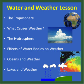 water and weather powerpoint lesson and student notes by teach