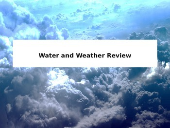 Water and Weather Review Team Trivia
