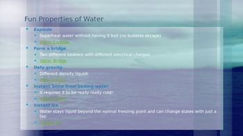 Water and it's Properties (Powerpoint)