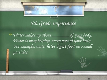 Water and the Water Cycle PowerPoint Review Game