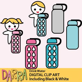 Water bottle clip art (Hydrate Clipart)