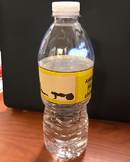 Water bottle LABEL to use as PE reward.