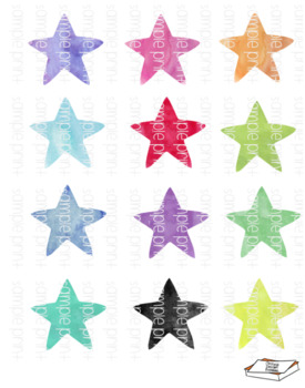 Water color stars