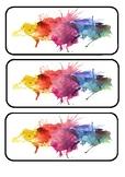 Water colour desk labels